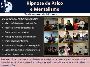 Curso Hipnose de Palco e Mentalismo
