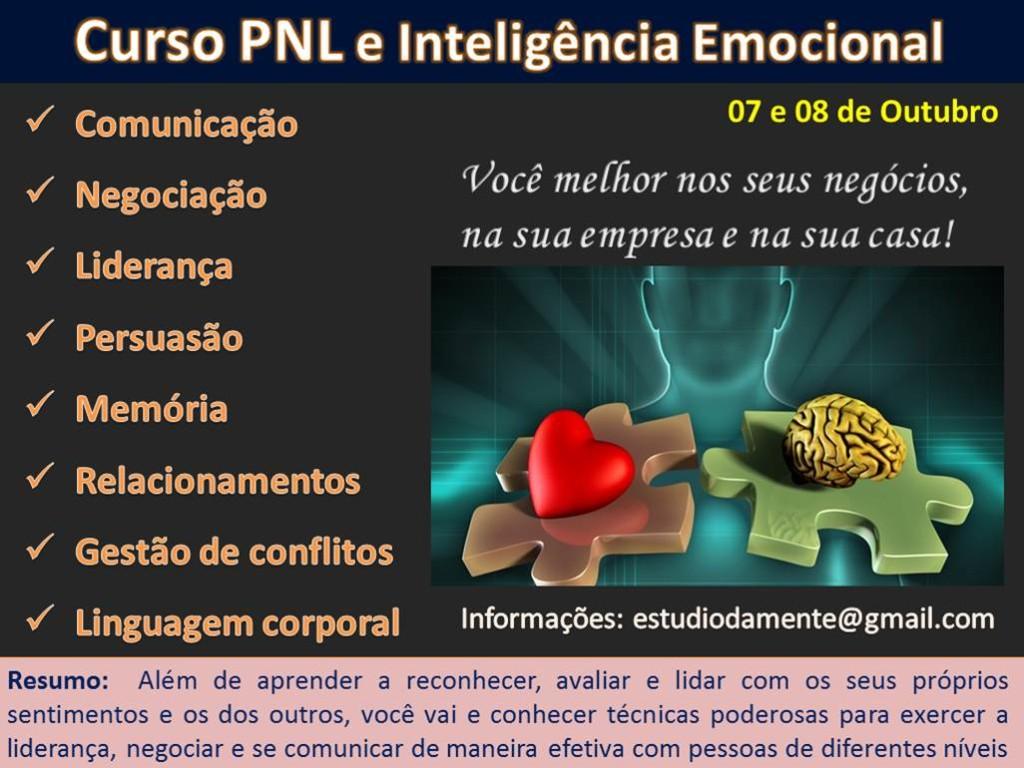 Curso PNL 7 e 8 de outubro
