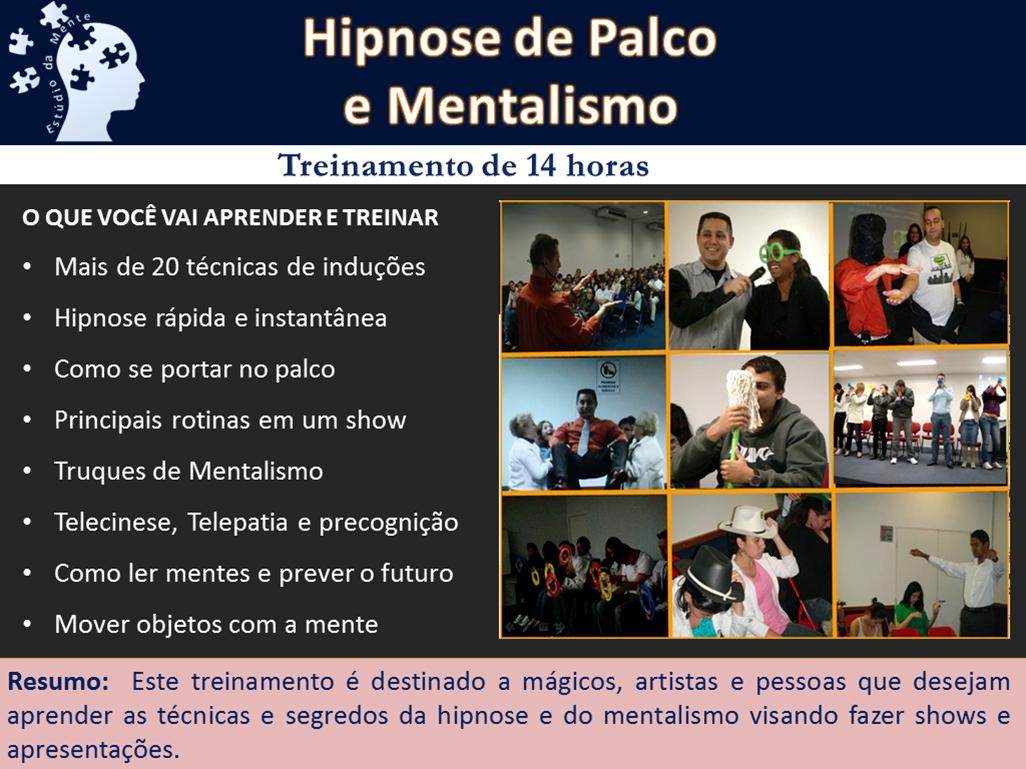 Slide23 Hipnose de palco e mentalismo
